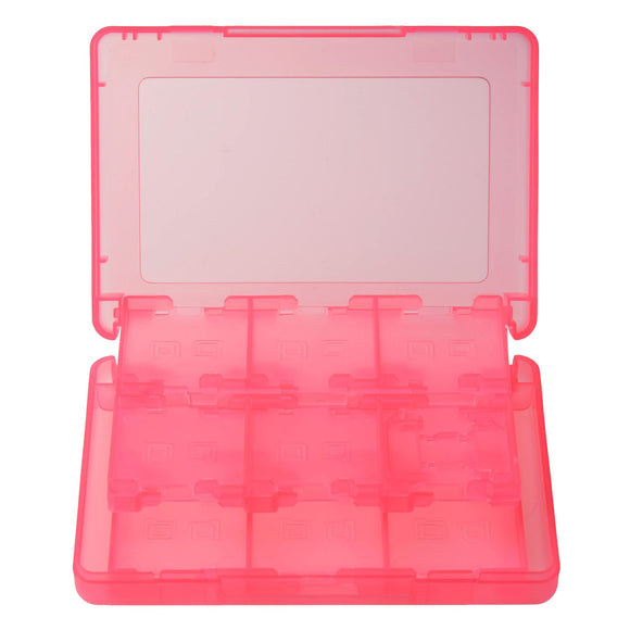 Nintendo 3DS 28 in 1 Game Card Memory Card Stylus Storage Case Pink