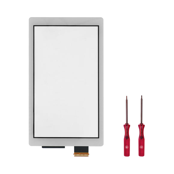 Touch Screen Digitizer for Nintendo Switch Lite Silver WITH SCREWDRIVER