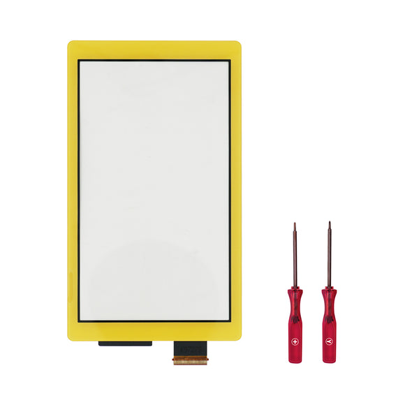 Touch Screen Digitizer for Nintendo Switch Lite Yellow with screwdriver