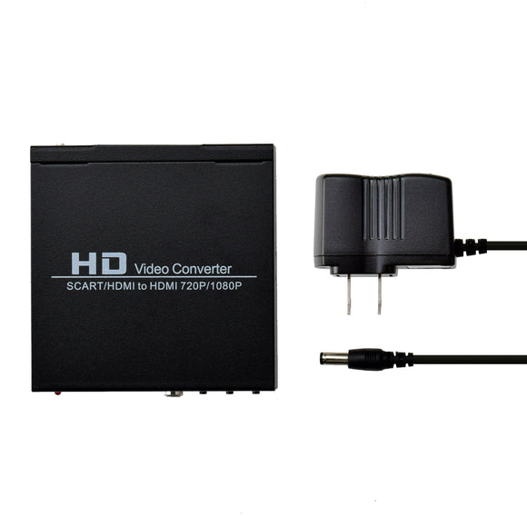 AV Audio Video Scart to Coaxial HDMI Adapter Converter Box US Plug