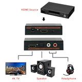 AV HDMI to HDMI Audio (SPDIF L R) Converter Adapter US Plug