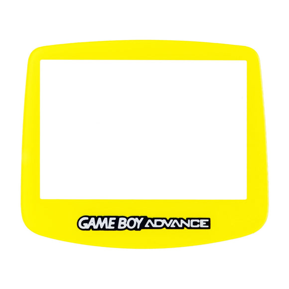 Nintendo GameBoy Advance Replacement Clear Screen Plastic Yellow