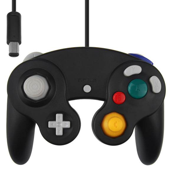 Wii GameCube Vibration Joypad Controller GC Black