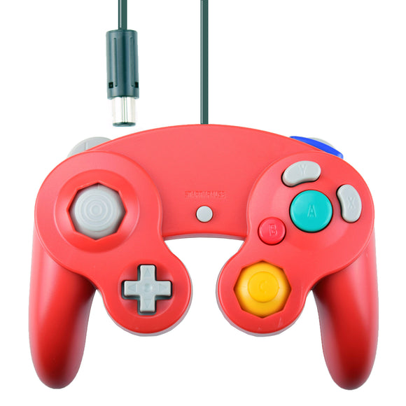 Wii GameCube Vibration Joypad Controller GC Red