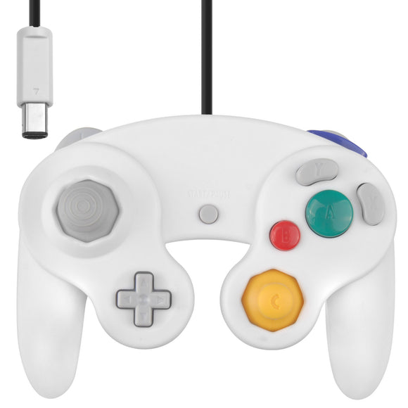 Wii GameCube Vibration Joypad Controller GC White