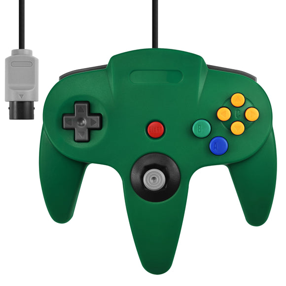 Nintendo N64 Full Size Wired Controller Game Pad Green