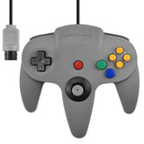 Nintendo N64  Full Size Wired Controller Game Pad Grey Gray