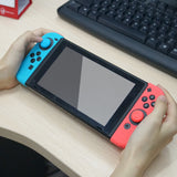 Blue& Red Silicone Case with 3-Set Thumb Stick Caps for Nintendo Switch Joy-Con Controller