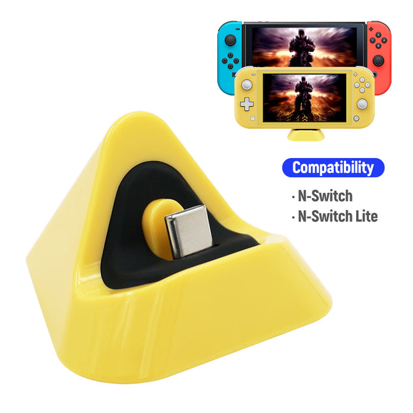 Latest Design DOBE Type-C Mini Charging Dock for Nintendo Switch Dock for Switch Lite Charging Station Yellow