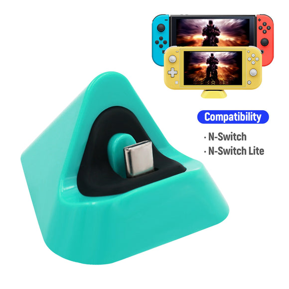 Latest Design DOBE Type-C Mini Charging Dock for Nintendo Switch Dock for Switch Lite Charging Station Turquoise