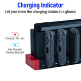 4 in 1 for Nintendo Switch Charging Dock Station for Joy-Con with LED Indicator iPega PG-9186 with USB 2.0 switch dock