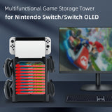 Multifunctional Game Storage Tower for Nintendo Switch Bracket Tower Holder Stand Shelf for Joy Con for Nintendo Switch Pro