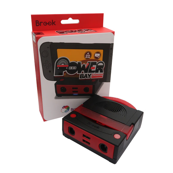 Brook Power Bay Crimson for Nintendo Switch Console Dock with Connect to for GameCube Controller