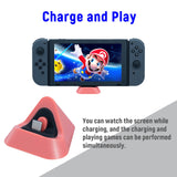 Factory Price DOBE Charging Dock for Nintendo Switch Dock for Nintendo Switch Lite Charging Stand Type-C Port Mobile Phone Coral