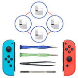DIY for Joy-Con Metal L R Left Right Lock Buckle Set with Open Tool for Nintendo Switch for Joy Con Buckle Lock Repair Tool Set