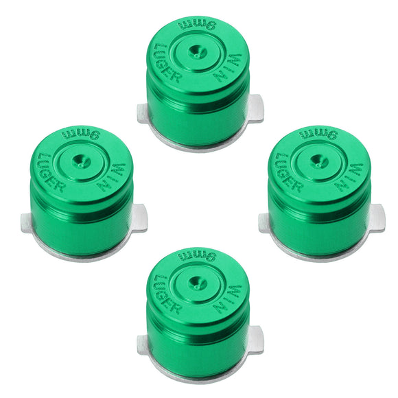 Metal Button Set Bullet Style for Dualshock 3 / 4 Green