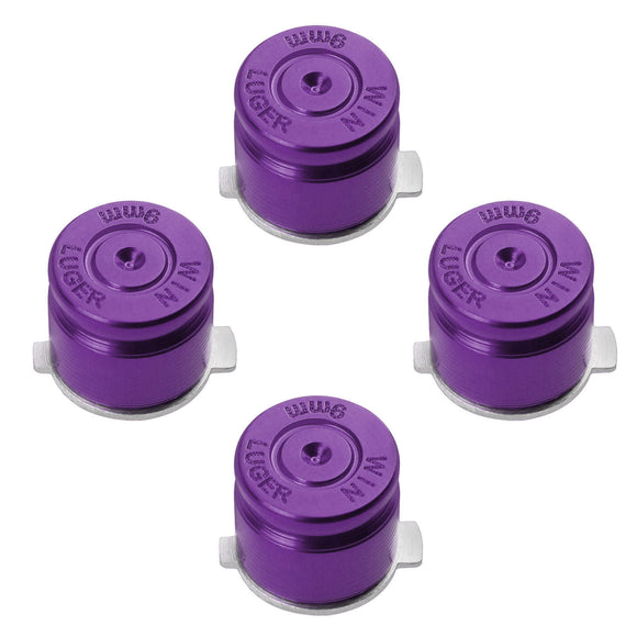 Metal Button Set Bullet Style for Dualshock 3 / 4 Purple