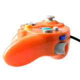 Classic Nintendo GC Gamecube Style USB Wired Controller Orange