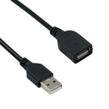 Black 2ft USB2.0 Extension Cable (Male/Female)