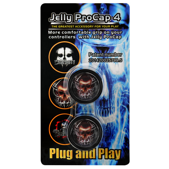 PS4 Dualshock 4 Jelly ProCap Controller Analog Thumb Stick Grip Skull Head