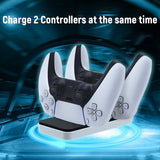 PS5 for DualSense Controller Dobe Dual Controller Charging Charger (TP-0504)