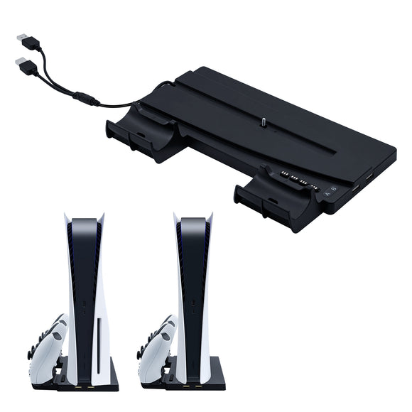 For PS5 DE UHD Vertical Charging Stand Station With USB Ports For PS5 Controller Charger For PS5 Console