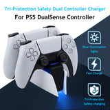 Honcam Tri-Protection Safety Dual Controller Charger for PS5 DualSense Controller (HC-A3705)