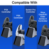 For PS5 Dual Controller Charging Charger With Headset Holder For PS4 For Xbox Series X For Nintendo Switch Pro Controller