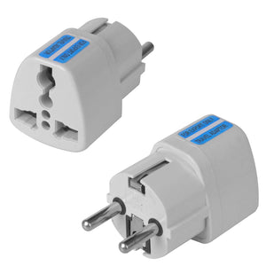 Universal Mini AC Output Power Travel Plug Adapter Converter US AU UK to EU