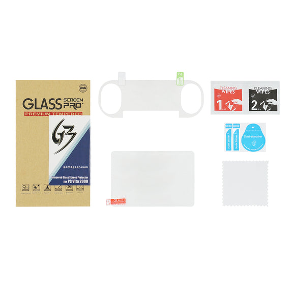 Front Screen Tempered Glass with Rear Plastic Film Protector