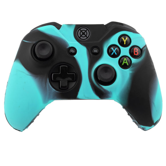 Camo Color Silicon Case Skin Cover Wireless Controller Blue Black
