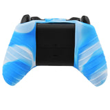 Camo Color Silicon Case Skin Cover Wireless Controller Blue White