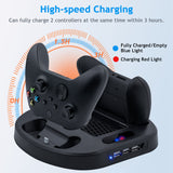 Vertical Charging Stand Station With Cooling Fan For Xbox Series S Console With Extra USB Ports for Xbox Series S Controller