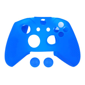 Blue Soft Silicone Thicker Skin Cover for Xbox One X & One S controller (NOT for  Xbox One or Xbox One Elite controller)