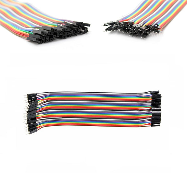 40pcs Dupont Female to Male jumper wire cable 20cm Pi Arduino Breadboard NEW