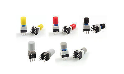 8 x 8 x 17mm Momentary Tactile Push Button Switch 6 Pin DIP MIXED 5/10/20 pcs