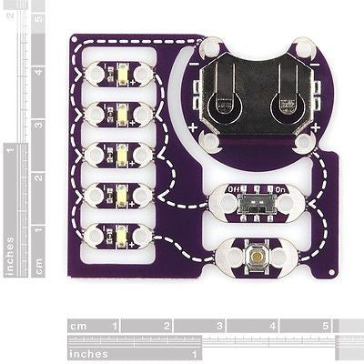 LilyPad ProtoSnap E-Sewing Prototype Kit Compatible Arduino Raspberry Pi