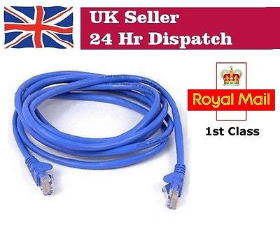 RJ45 10/100 Network LAN Ethernet Lead Cable CAT5 3m FOR Raspberry Pi NEW