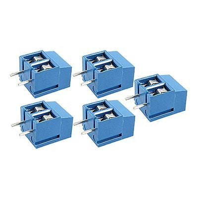 2 Pin Screw Terminal Block Connector 5mm Pitch 5 / 10 / 20 pcs