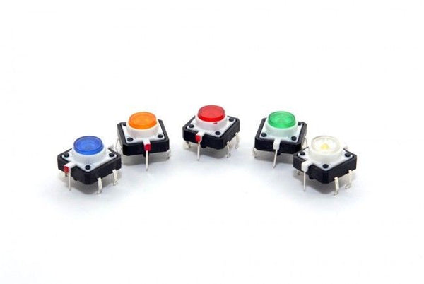 LED Lamp Momentary Tactile Push Button Switch 4 Pin PCB 12 x 12 x 7mm 5 PCS