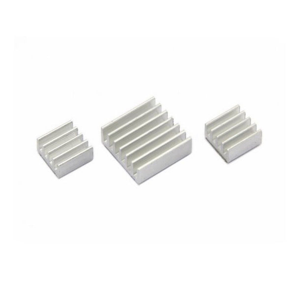 Aluminium Heatsink set for ALL Raspberry Pi Models SELF ADHESIVE 1 / 2 / 3 sets