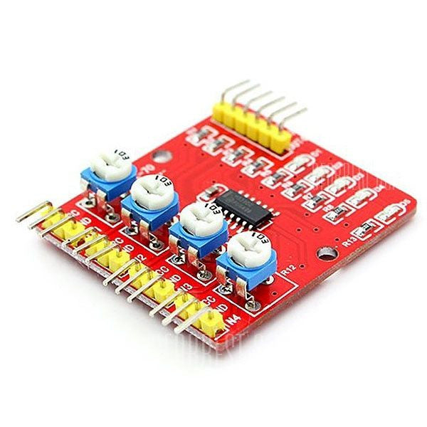 4-Channel Infrared IR Line Tracking Sensor Module for Raspberry Pi Arduino