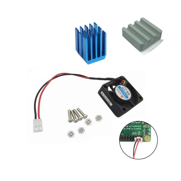 Ceramic Aluminium Heatsink AND Cooling Fan Kit for All Raspberry Pi Models 3 2 B