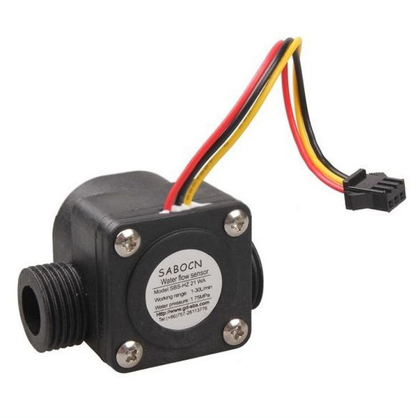 "YF-S201 Water Flow Sensor G 1/2"" Fluid Flowmeter Switch Counter 1-30L/min Meter"