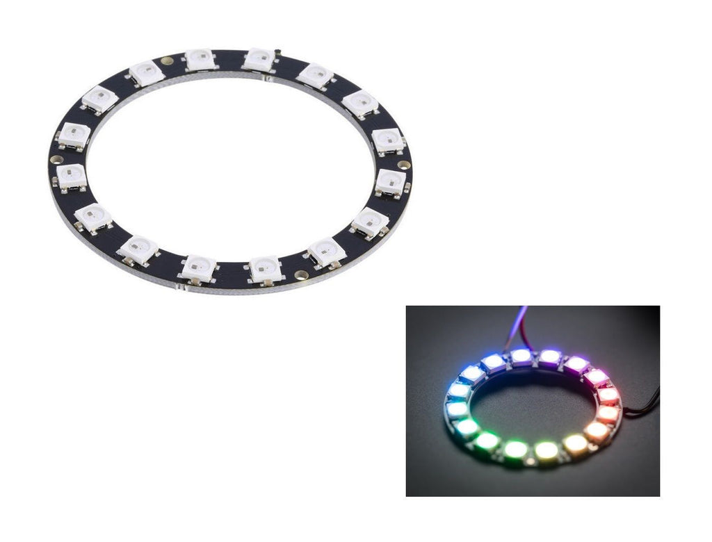 NeoPixel Ring - 16 x WS2812 5050 RGB LED Ring Board for Arduino Raspberry Pi