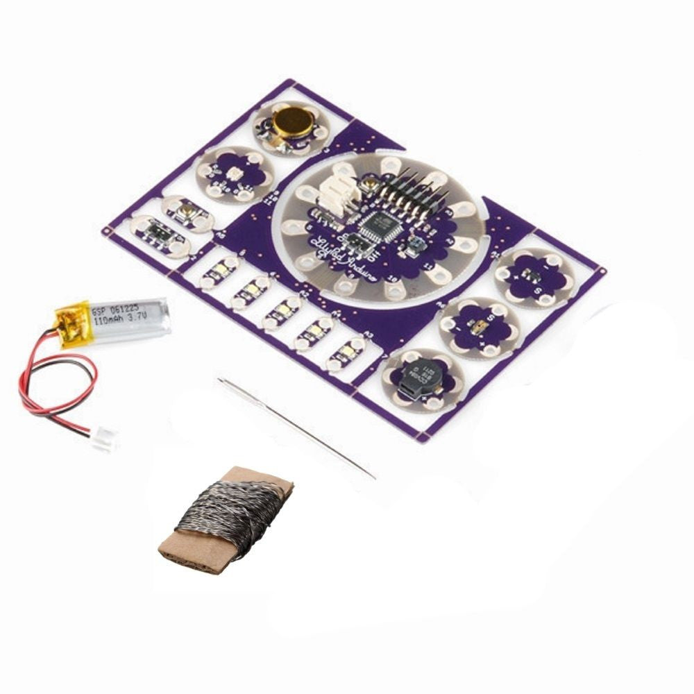 LilyPad KIT LED Button Light Sensor Switch Buzzer with Battery Conductive Thread