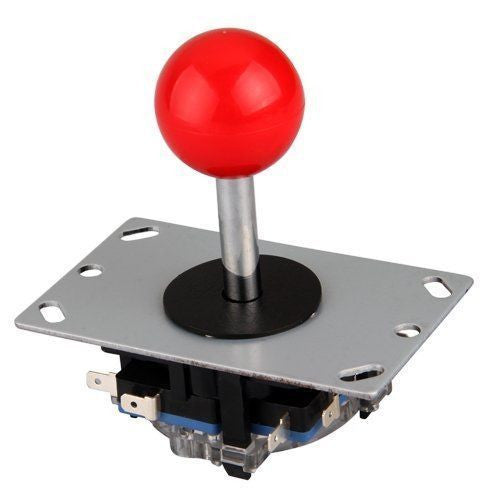 Red Joystick 8 way Controller for Arcade Games Arduino Raspberry Pi