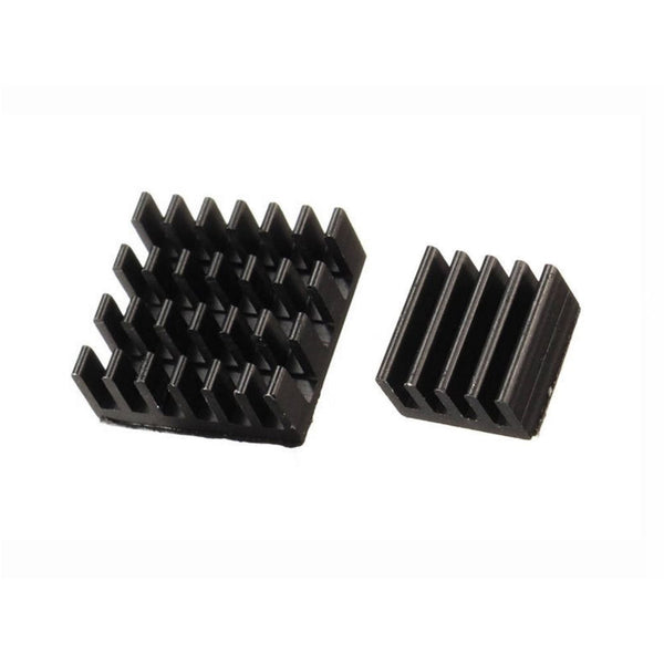 Black Aluminium Heatsink set Raspberry Pi / Zero SELF ADHESIVE 1 / 2 / 3 sets