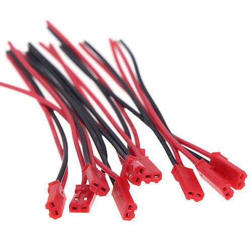100mm JST Connector Plug Cable Male AND Female for RC Battery 5 / 10 Pairs
