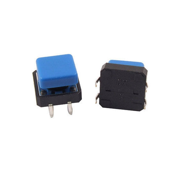12x12x7.3mm Push Button Momentary Tactile Switch Square BLUE CAP 5/10/20 pcs